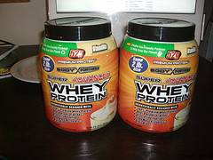 Whey protein containers